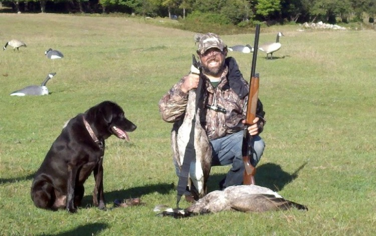 Goose Hunter and Dog