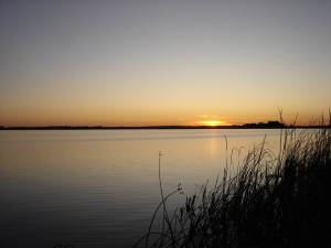 Sundown over North Dakota Marsh