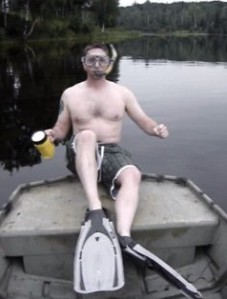Going snorkeling to retrieve some lost ice fishing gear, link to video