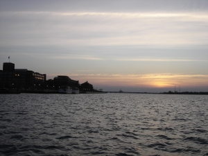 Sunrise on the Detroit River, Walleye Fishing