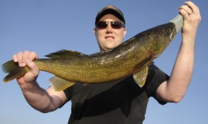 Johnny with a big walleye