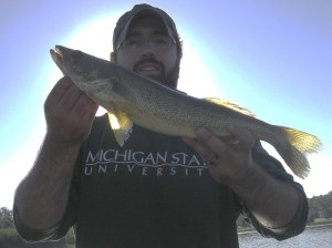 Angler with Walleye