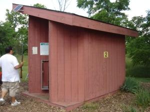 Shooting Station at Island Lake