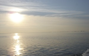 Glassy Lake St. Clair first thing in the morning