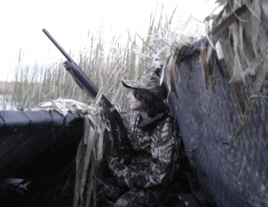 Youth Waterfowl Hunter in Michigan