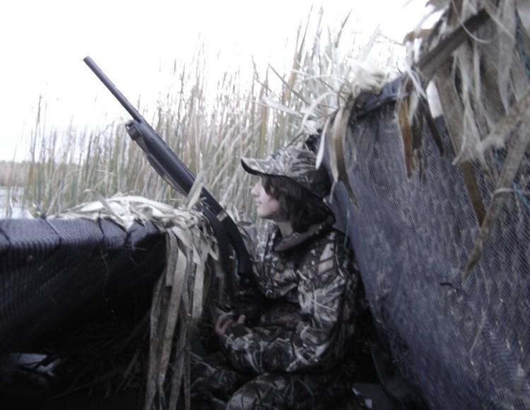 Youth Waterfowl Hunter in Michigan