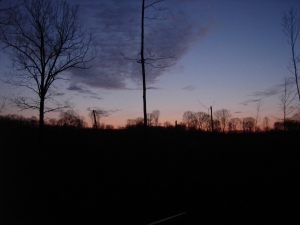 Sunset on Opening Day of Deer Season