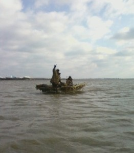 My Brother and Mike in the boat
