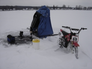 The hardest working mini bike on the ice