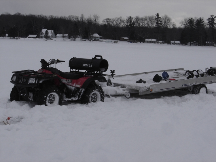 Arctic Cat Loaded Down with the Gear
