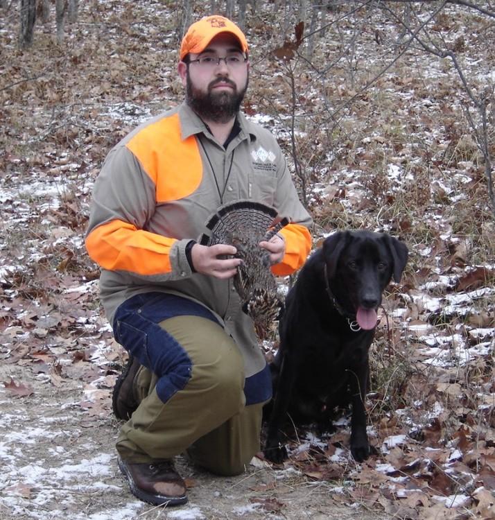 Successful grouse hunter