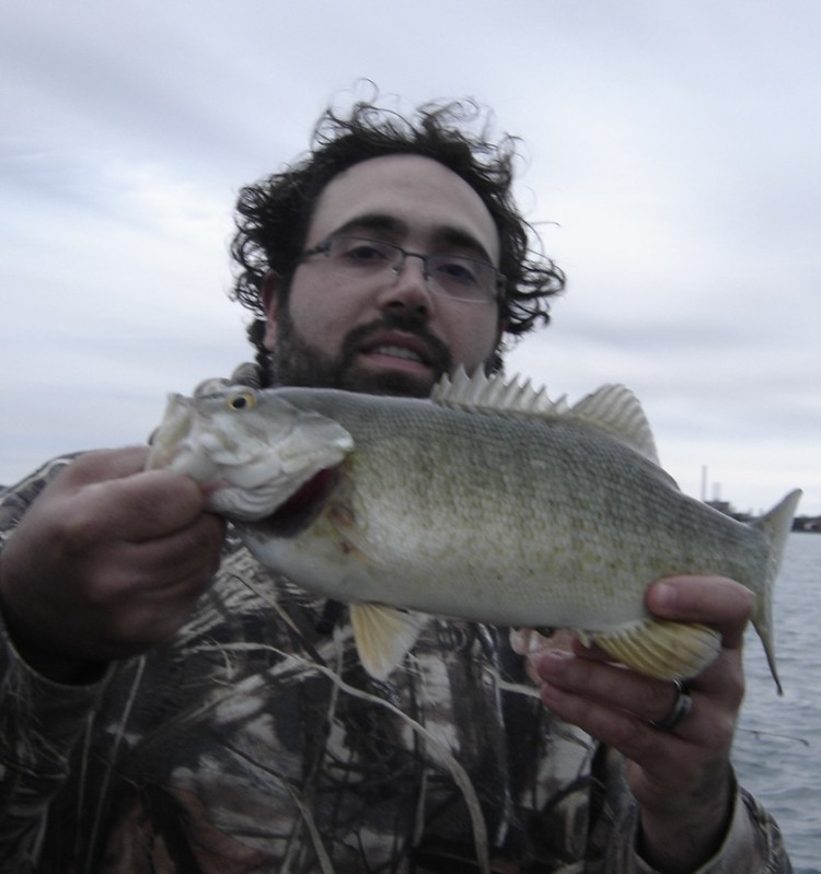 Angler with a Smallie