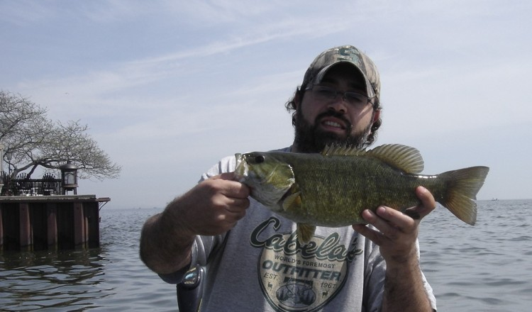 Smallie caught off structure