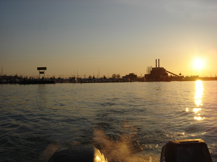 Sunrise on the Detroit River
