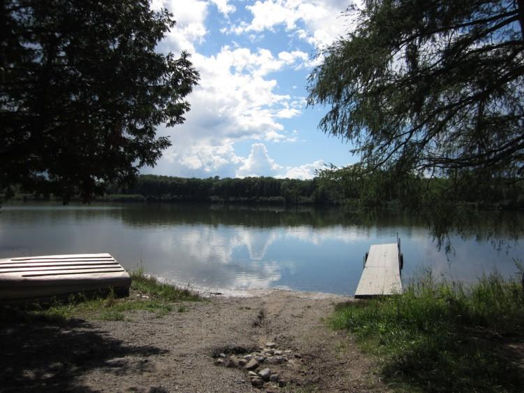 Remote boat launch in Northern Michigan