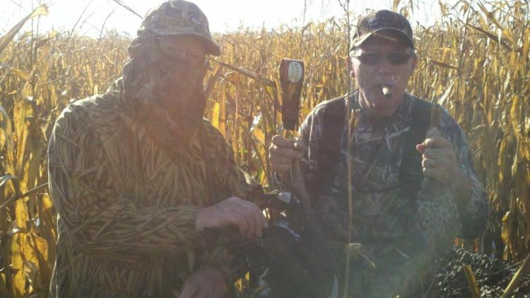 Two Duck hunters doing what they love