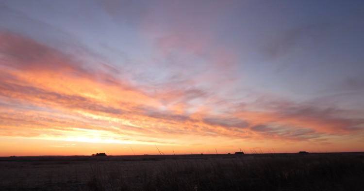 Sunrise from a NoDak duck blind