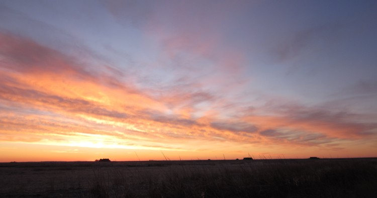 Sunrise from a NoDak duck blind