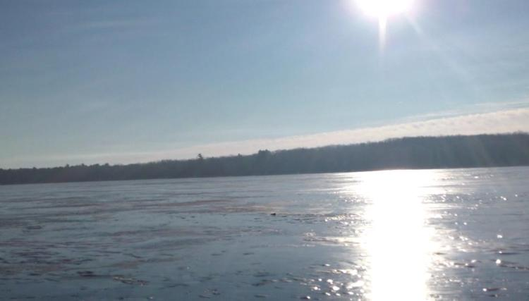 ice on higgins lake