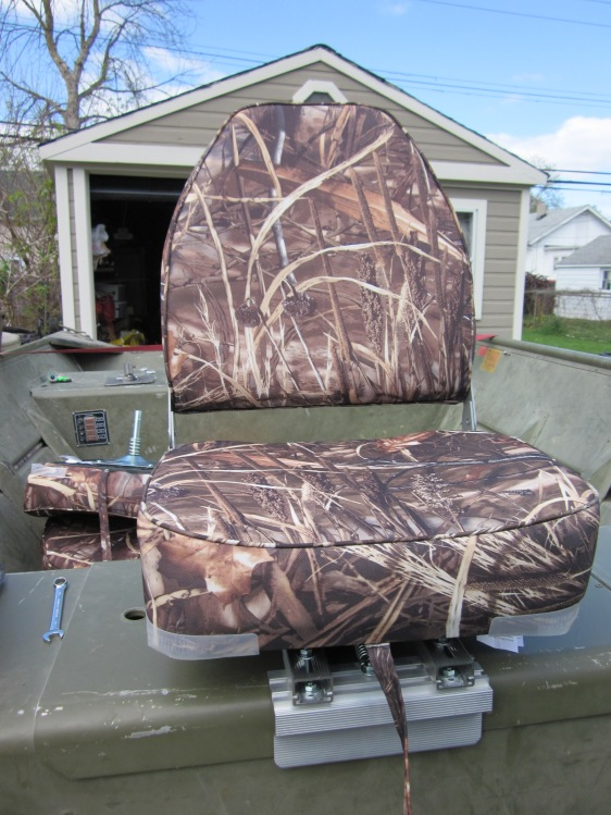 Bass Pro Shops High Back Seat Installed With Cuda Clamp Hunt Ducks Hook Fish